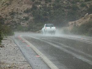 Parinacota - lluvia