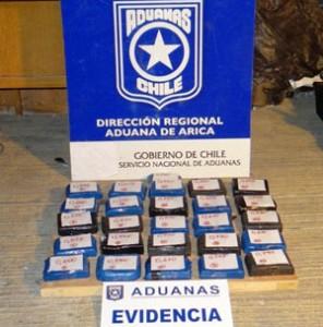 Aduana - droga paquetes
