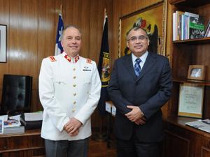 Cdte. en Jefe Ejército, General Humberto Oviedo, Intendente Regional Emilio Rodríguez