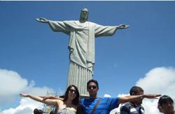 Karen Aguilera y Williams Acosta en Río de Janeiro - Brasil