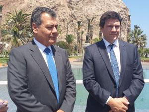 Diputado Luis Rocafull, Ministro de Transporte y Telecomunicaciones, Andrés Gómez-Lobo
