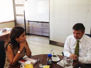 Seremi Vivienda  Gladys Acuña, senador Fulvio Rossi