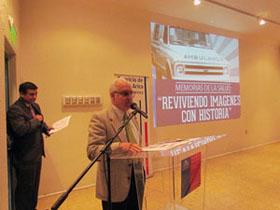 Dr. Hernán Sudy Pinto exponiendo acerca del documental