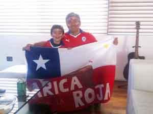 Alonso Inzulza y su hijo Cristóbal