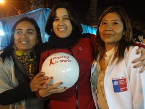 Seremi gobierno Carolina Videla, gobernadora provincial de Arica Andrea Murillo y Giovanna Calle seremi de salud