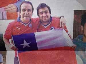 Cristian Oyarzún y su hijo Felipe