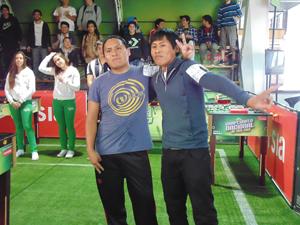 Moisés Ramírez y Alex Montes  de la Universidad de Tarapacá
