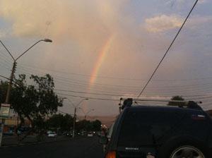 Arcoíris observado en la tarde de ayer en Arica
