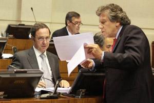 Senadores Hernán Larrain y  Alberto Espina