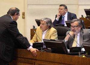 Senadores Alejandro Navarro y Alejandro Guillier