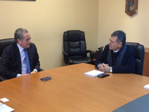 Jorge Inostroza, presidente del  directorio de la Empresa de Ferrocarriles del Estado y Diputado Luis Rocafull
