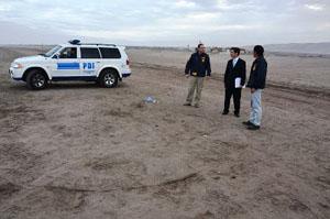 El Fiscal Daniel Valenzuela concurrió al lugar donde fue herida la víctima extranjera para instruir varias diligencias