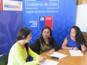 Selena Contreras de Prodemu, Carolina Videla Seremi Gobierno y Jacqueline Castillo de Sernam coordinan la Escuela de Lideresas
