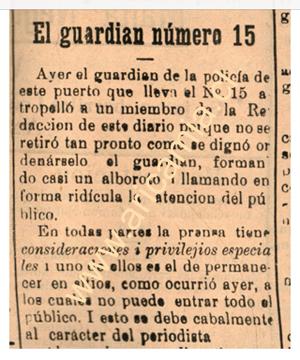 Parte de la información publicada en el diario El Ferrocarril del año 1925