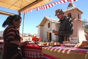 Mirco Lomoth, periodista alemán, en el poblado de Socoroma