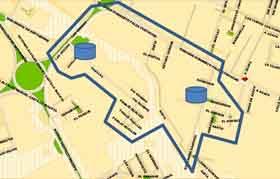 Corte Azapa cuadrante: Humberto Palza Corvacho (camino Azapa), Rotonda Azapa, Los Hualles y Guillermo Sánchez.