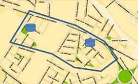 Corte sector Saucache:  18 Septiembre, Tucapel, Coronel Benedicto, Los Vilos, Angelmó y Cruz del Sur.