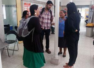 Delegación de Hospital Kallvü Llanka de Cañete, visitando la posta de San Miguel de Azapa.