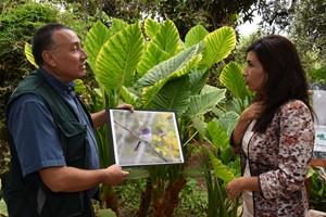 Guillermo Cisternas, director regional de CONAF, junto a intendenta regional Gladys Acuña.