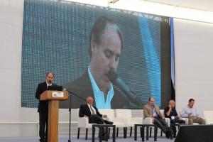 Francisco Javier González, Presidente de la Empresa Portuaria Arica en el discurso de cierre del Congreso