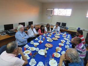 Presidente Corte de Apelaciones de Arica, ministro Eduardo Camus Mesa, comparte con representantes de los medios de comunicación de Arica.