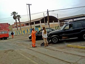 Accidente carro tren