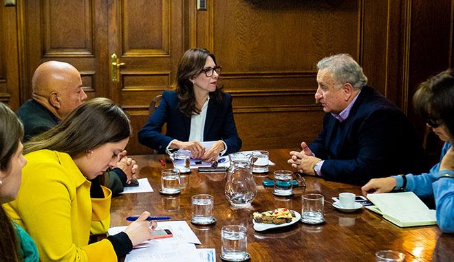 Senador Durana y Subsecretaria de Bienes Nacionales